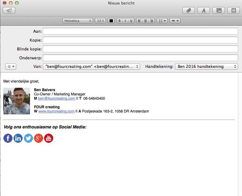 Een HTML handtekening instellen voor je Mac Mail